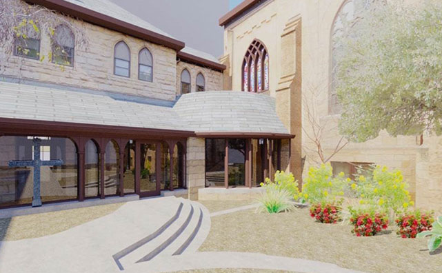 Grace Episcopal Church Exterior Rendering