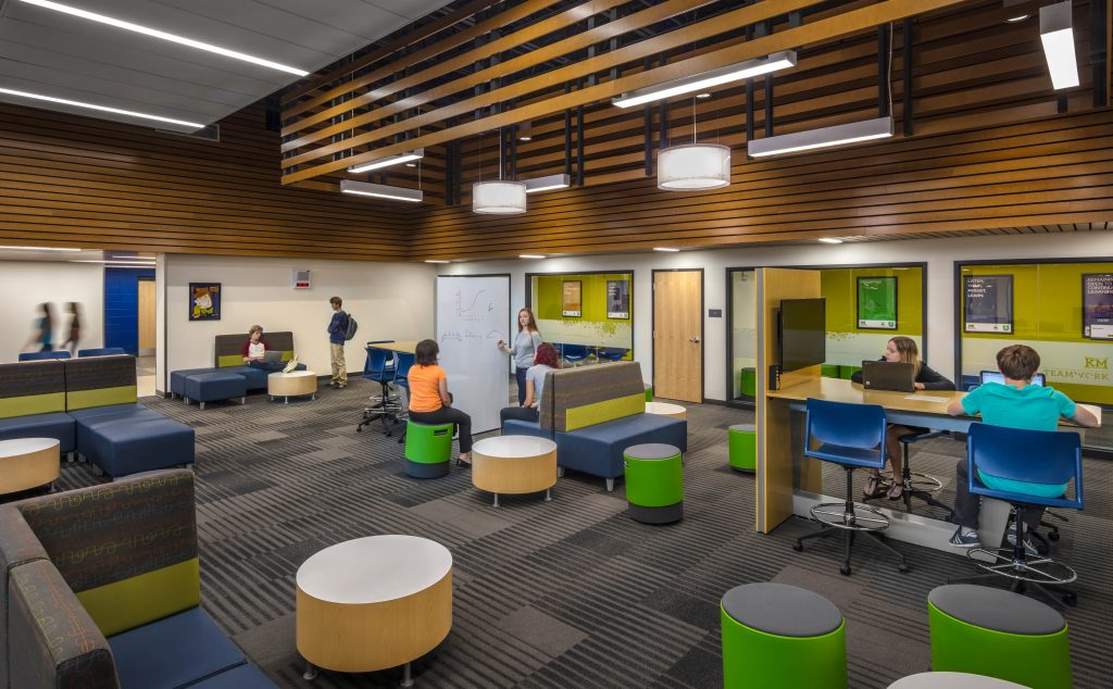 Kettle Moraine High School new commons area