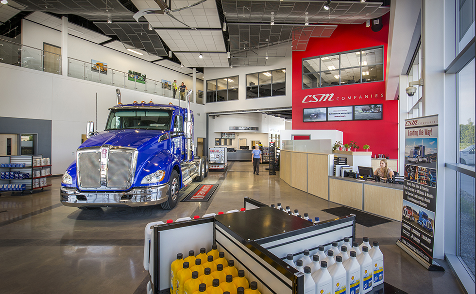 Wisconsin Kenworth Interior Showroom