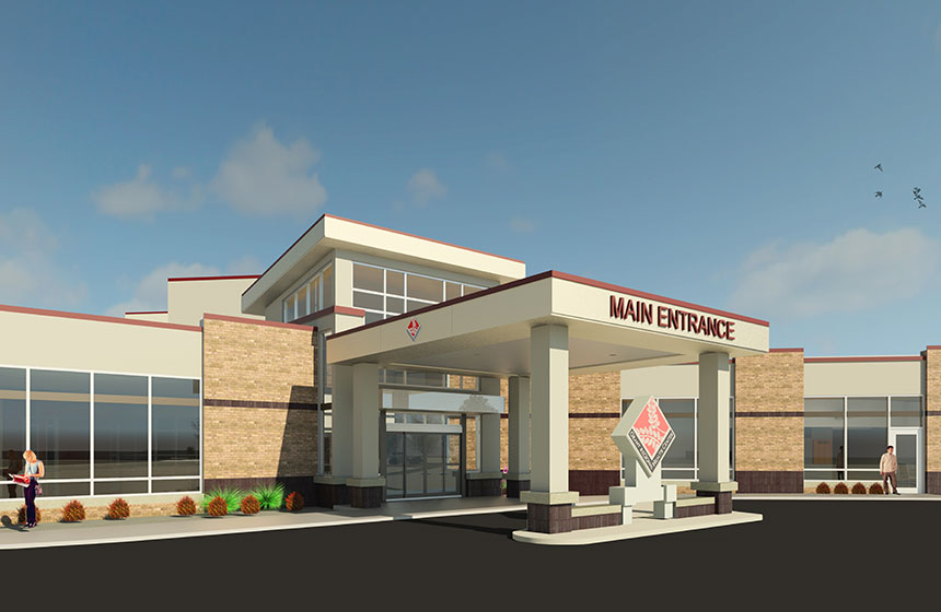 grant regional health center exterior rendering