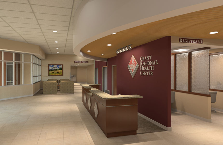 Grant Regional health Center interior rendering