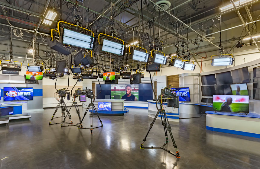 studio with cameras