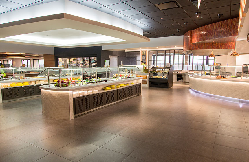 view of area to purchase food