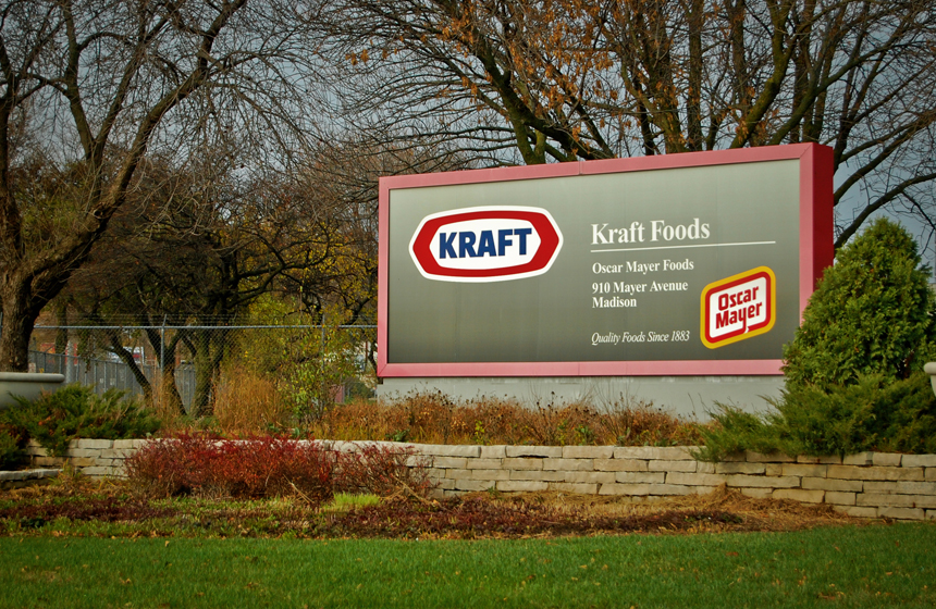 Gray Kraft Foods sign