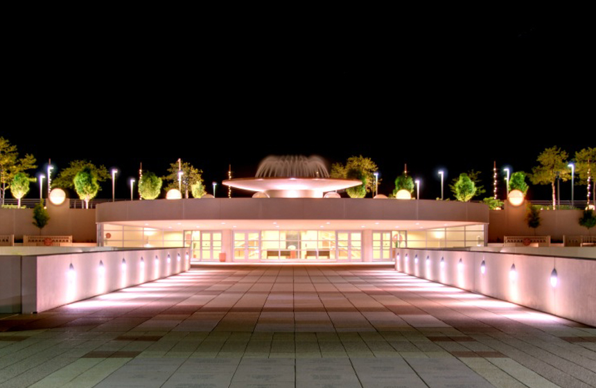 night view from front entrance