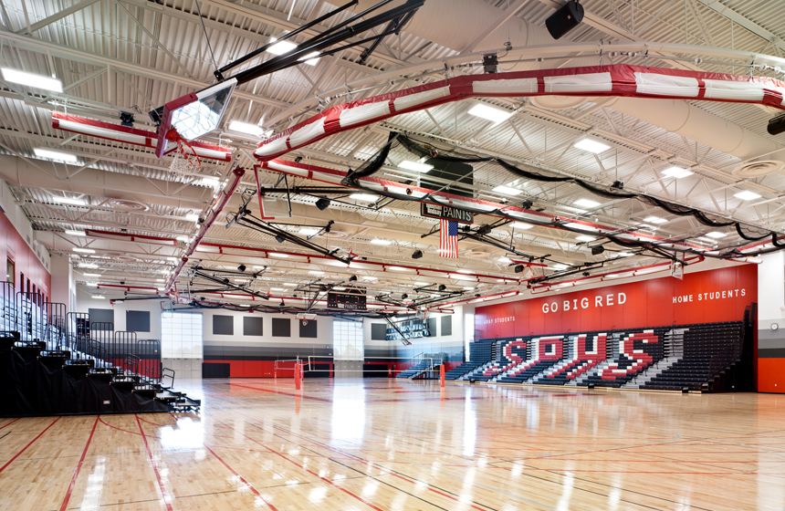 view of Sun Prairie High School Gym