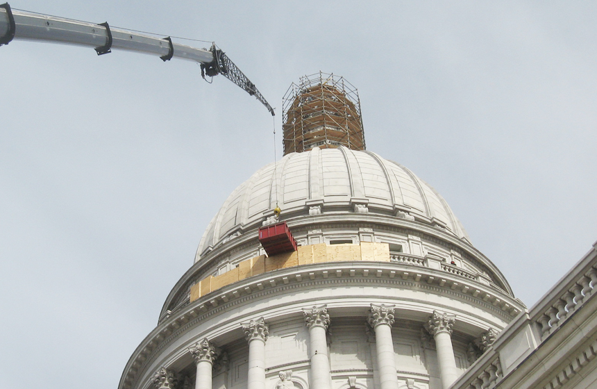 dome being worked on