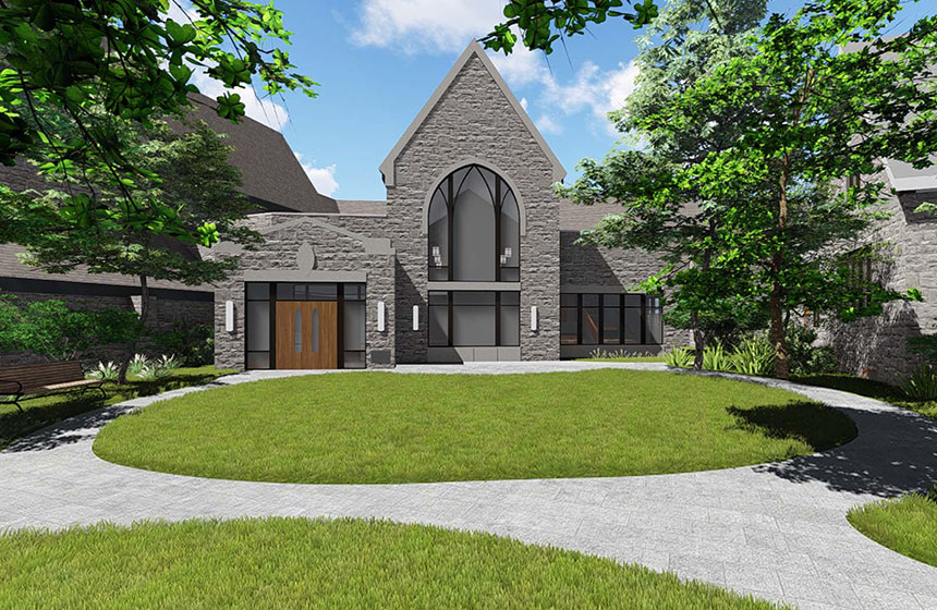 Christ Church Episcopal Exterior Rendering