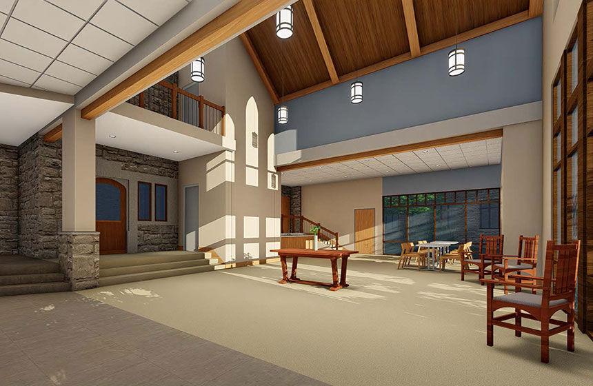 Christ Church Episcopal Interior Rendering