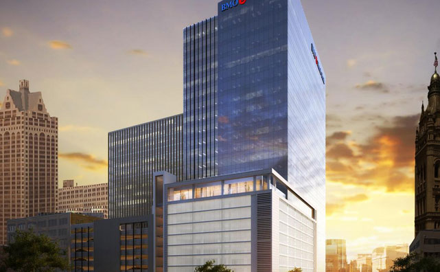 BMO Tower in downtown Milwaukee rendering