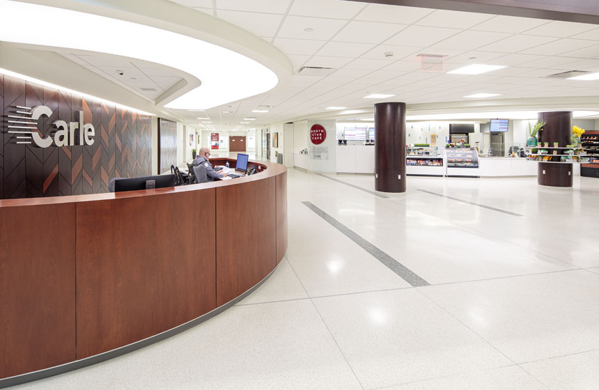 Carle Hospital Concourse Reception Desk