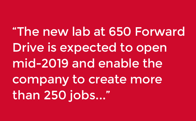 New lab at 650 forward drive expected to open mid-2019