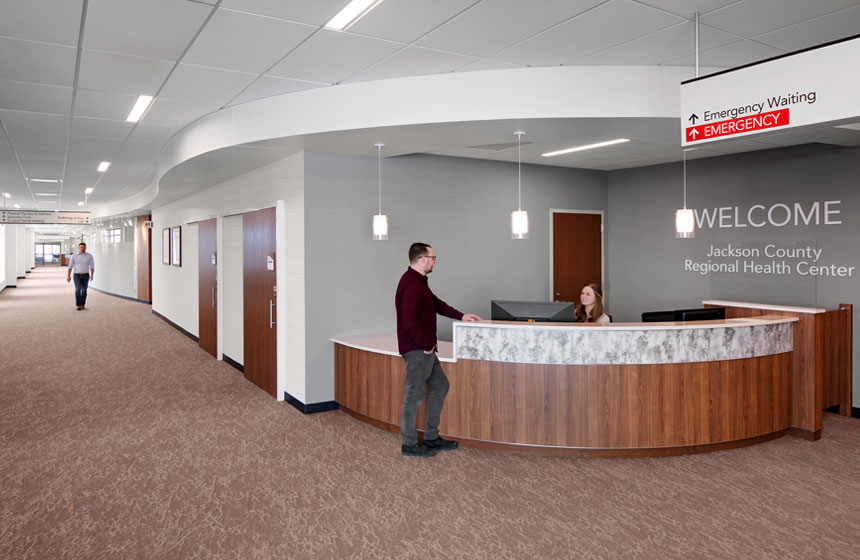 Jackson Country Regional Health Center Reception Area