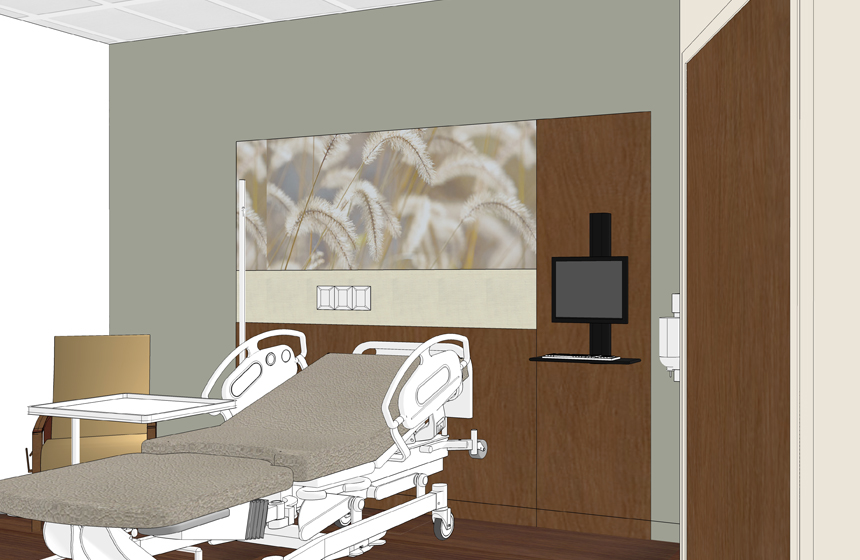 Jackson Country Regional Health Center Headwall Rendering