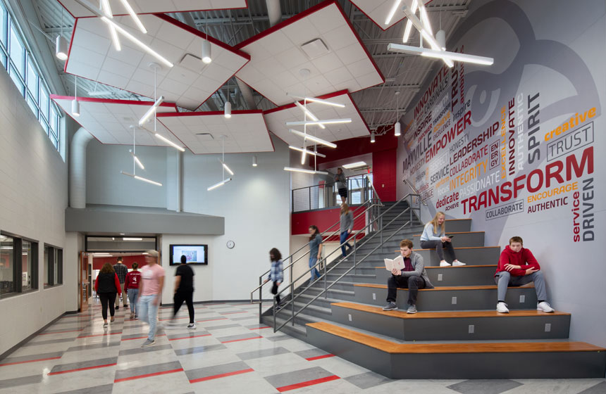 Mayville High School Lobby