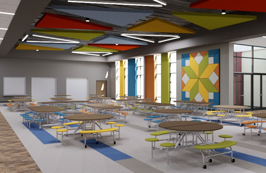 School District of Poynette Elementary Cafeteria Rendering