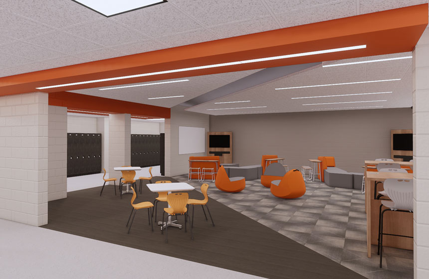 School District of Poynette High School Collab Rendering