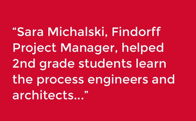 findorff's Sara Michalski helping students learn about construction