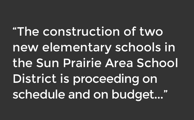Sun Prairie Area School District new elementary school construction