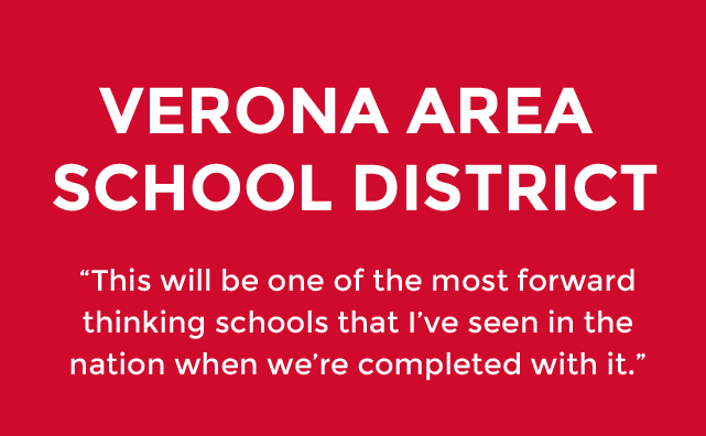 Verona Area School District will be most forward thinking schools