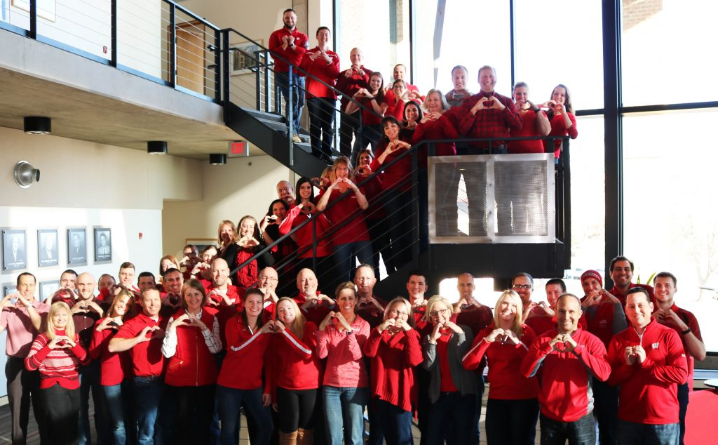 Findorff supports go red day for heart health