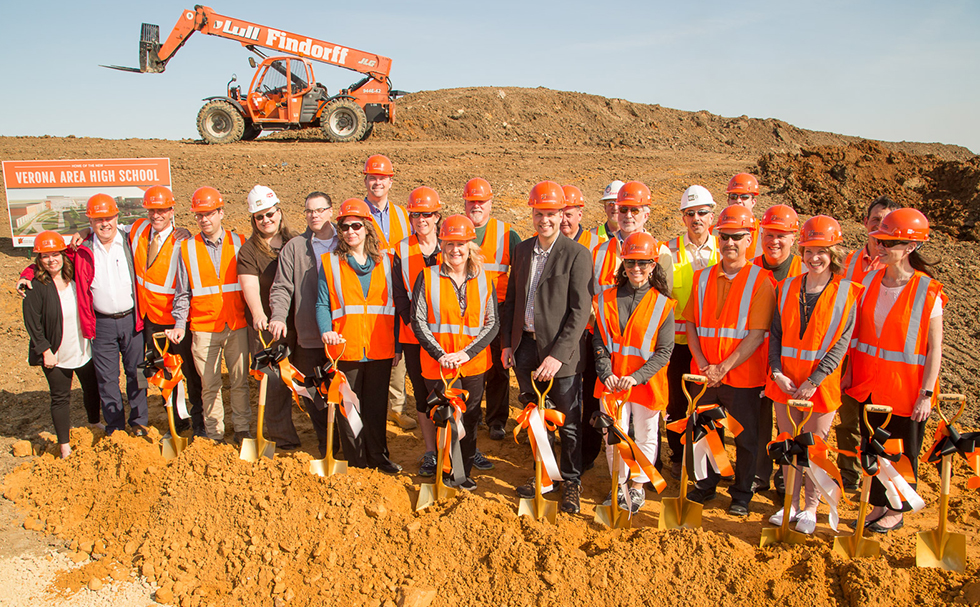 verona area school district groundbreaking ceremony
