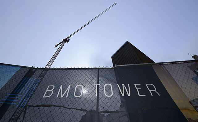 BMO Tower Crane looking up from ground