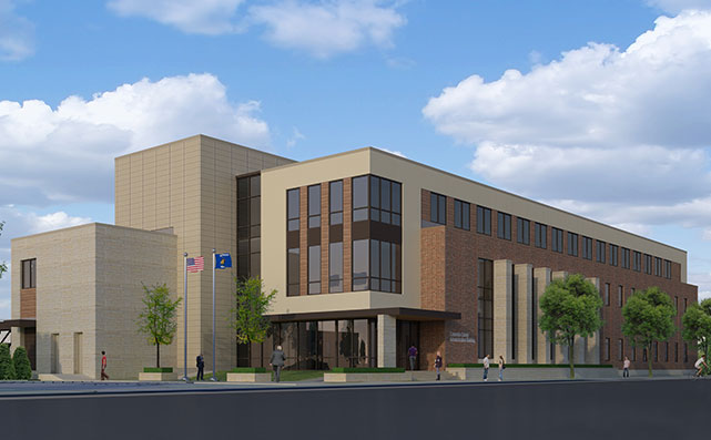 Columbia County Building Rendering