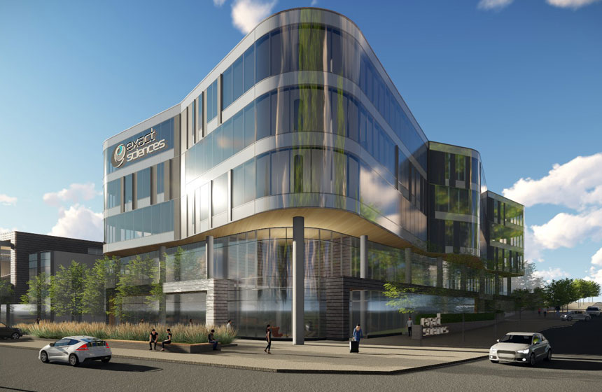Exact Sciences Innovation One Exterior Rendering