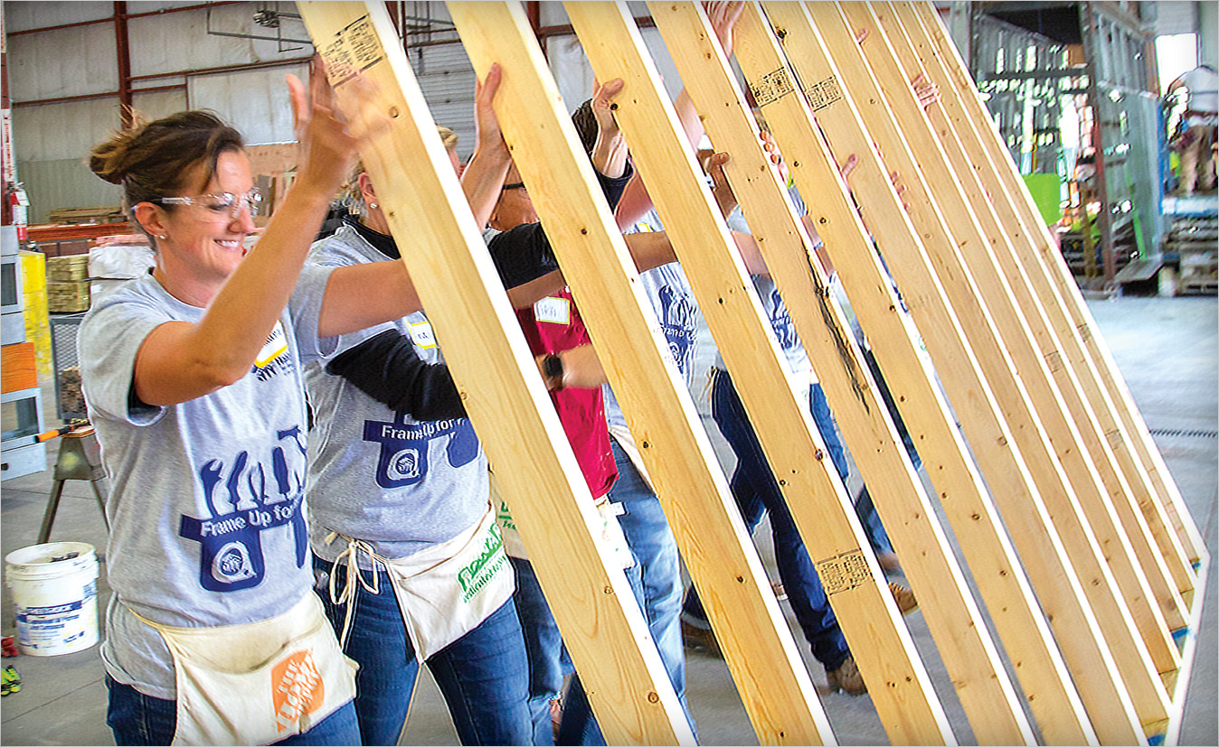 Helping Build Communities: Habitat For Humanity Frame Up
