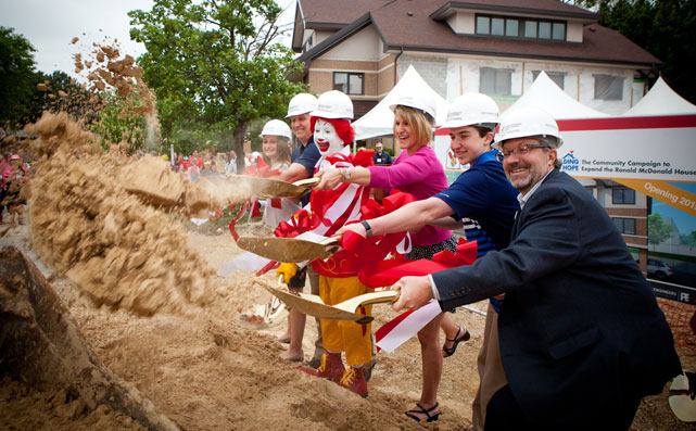 Ronald McDonald House Charities groundbreaking ceremony