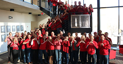 Findorff Madison Team Go Red Day