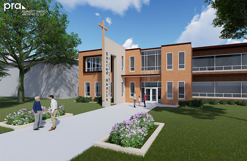 Sacred Hearts Addition Rendering