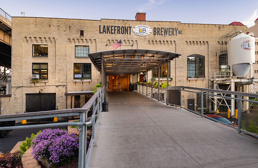 Lakefront Brewery New Pedestrian Walkway
