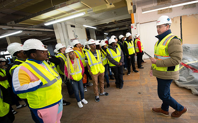 Bradley Tech job training tour with Findorff