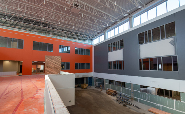 Verona Area School District New High School Interior Construction