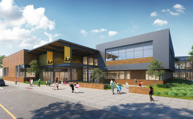 DeForest Harvest Intermediate School Rendering
