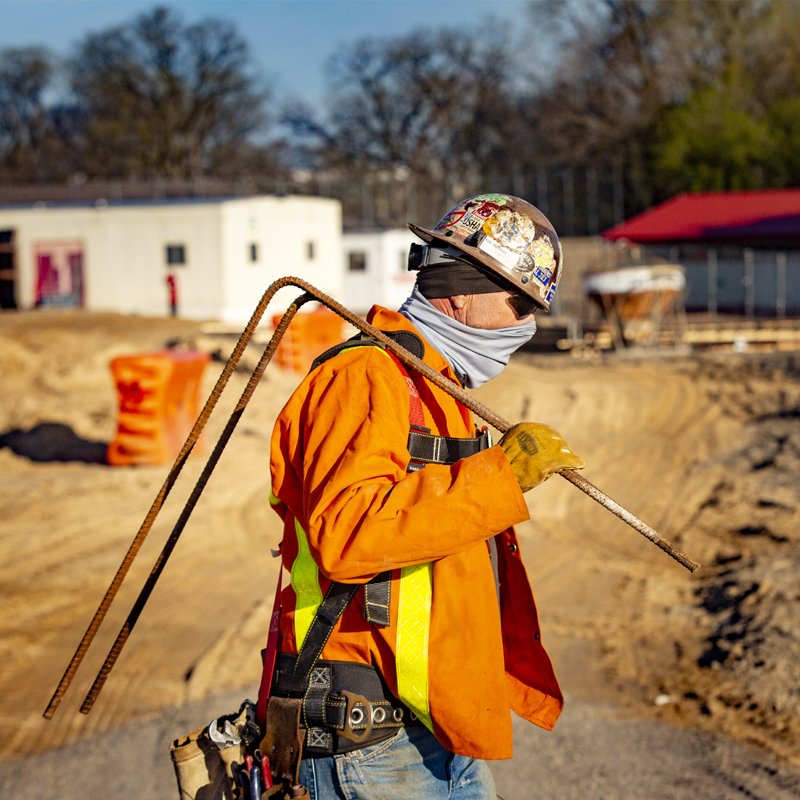 Worker on Construction Site