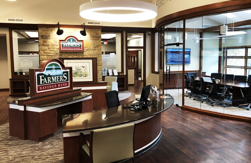Farmers savings bank mineral point, wisc interior remodel
