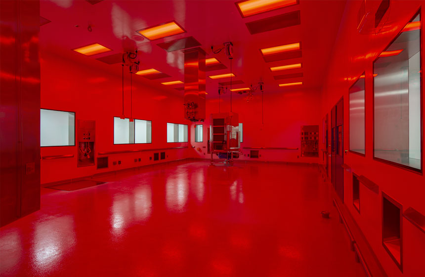 Catalent interior red room