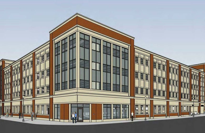 City of Kenosha Parking Ramp Exterior Rendering
