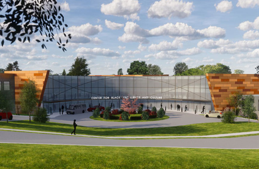 Center for Black Excellence and Culture Exterior Rendering