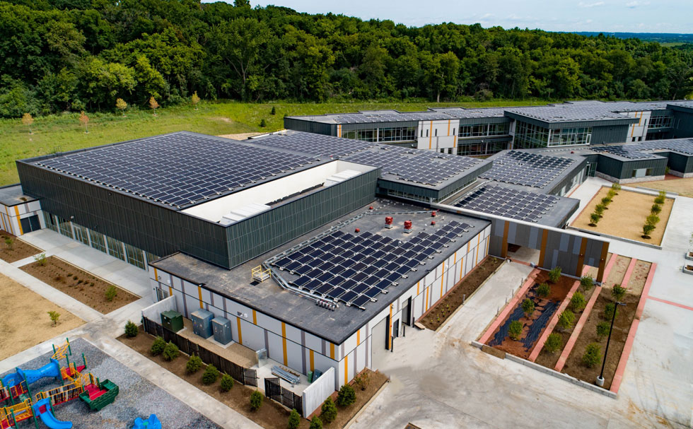 Oregon School District Forest Edge Elementary Solar Panels