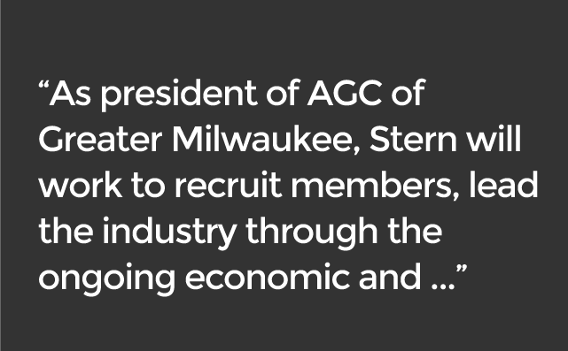 Mike Stern AGC of Greater Milwaukee President